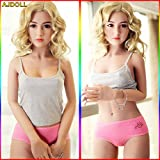 AJDOLL 145cm (4.75ft) Love Dolls 3 Holes Full Body with Vagina Sex Oral Sex Anal Sex Dolls for Man Life Size with Metel Skeleton Sex Toys Masturbation