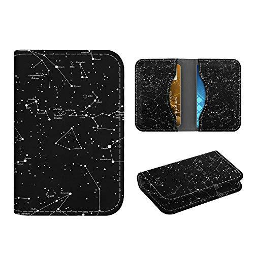 Business Card Holder Case, Fintie Premium Vegan Leather Folio RFID Blocking Credit Cards ID Card Wallet Organizer with Magnetic Closure, Constellation