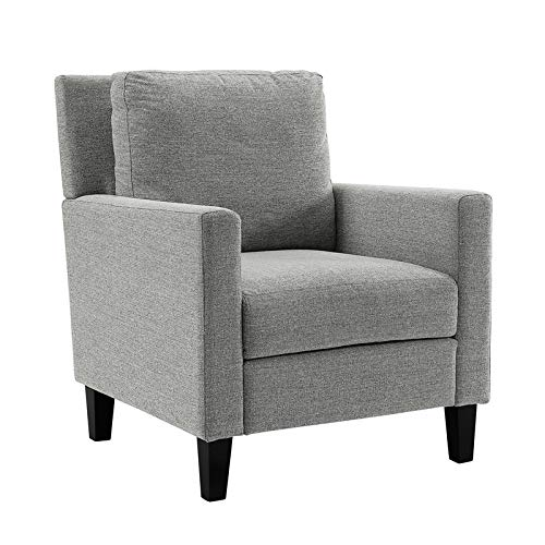 Super Amazon Com Pemberly Row Pillow Back Accent Chair In Gray Pabps2019 Chair Design Images Pabps2019Com