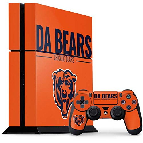 (Skinit NFL Chicago Bears PS4 Console and Controller Bundle Skin - Chicago Bears Team Motto Design - Ultra Thin, Lightweight Vinyl Decal Protection)