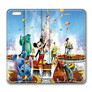 iPhone 6 Case, Disney Animated Movie Characters Luxury Leather Flip Case Cover With Stand Feature for iPhone 6 4.7inch, Original Made by PhilipHayes