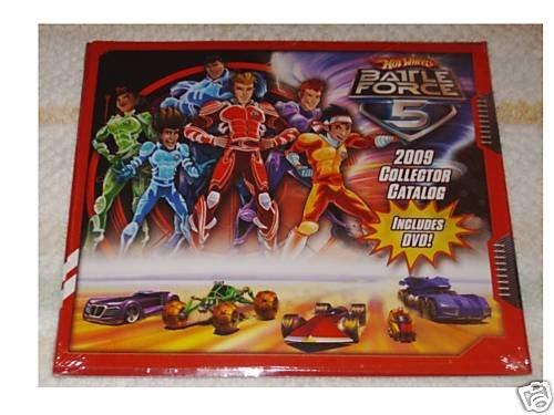 Hot Wheels Battle Force 5 2009 Collector Catalog + DVD