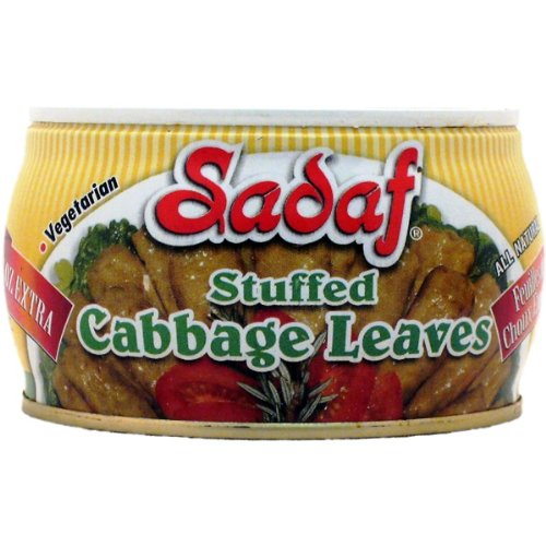 Sadaf Stuffed Cabbage Leaves, 14-Ounce (Pack of 12)