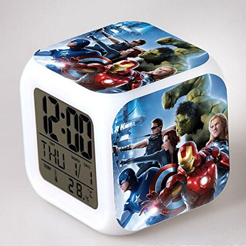 Enjoy Life : Cute Digital Multifunctional Alarm Clock With Glowing Led Lights and Avengers sticker, Good Gift For Your Kids, Comes With Bonuses Part 2 (14) by EnjoyLife Inc