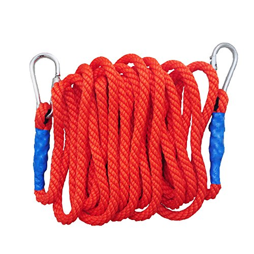 LDFN Rock Climbing Rope, Outdoor, Spider-Man, Mountaineering Rope, Lifting Rope, Escape, Abrasion Resistant, Rope,Red-5m16mm