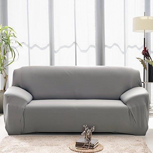 Buy Sectional Sofa In Dubai: Bluecookies Stretch Arm Elastic Sofa Slipcover, Grey