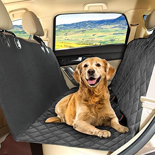 🥇 KYG Cubierta de Asientos de Coche Impermeable para Perros Protector de Mascotas Funda de Asientos Antideslizante y Comodo Manta Animal de Coche para Coche Camión SUV para Viajes