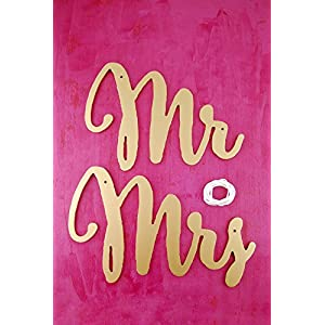 Mr and Mrs Chair Signs Gold - Excellent Home Decor - Indoor & Outdoor 44
