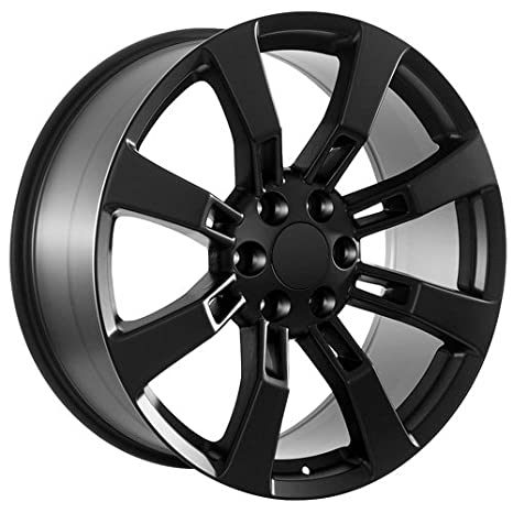 Amazon Com 22 Inch Black Chevy Ck375 Replica Truck Wheels Rims