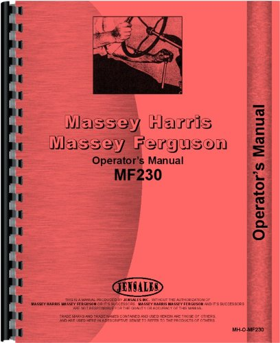 Massey Ferguson 230 Tractor Operators Manual (SN#