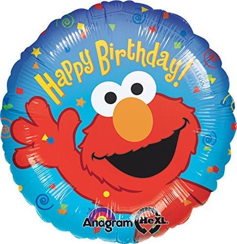 Amazon.com: Anagram Internacional Elmo Cumpleaños Foil Globo ...