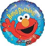 ": Anagram International Elmo Birthday Foil Balloon Pack, 18"", Multicolor"