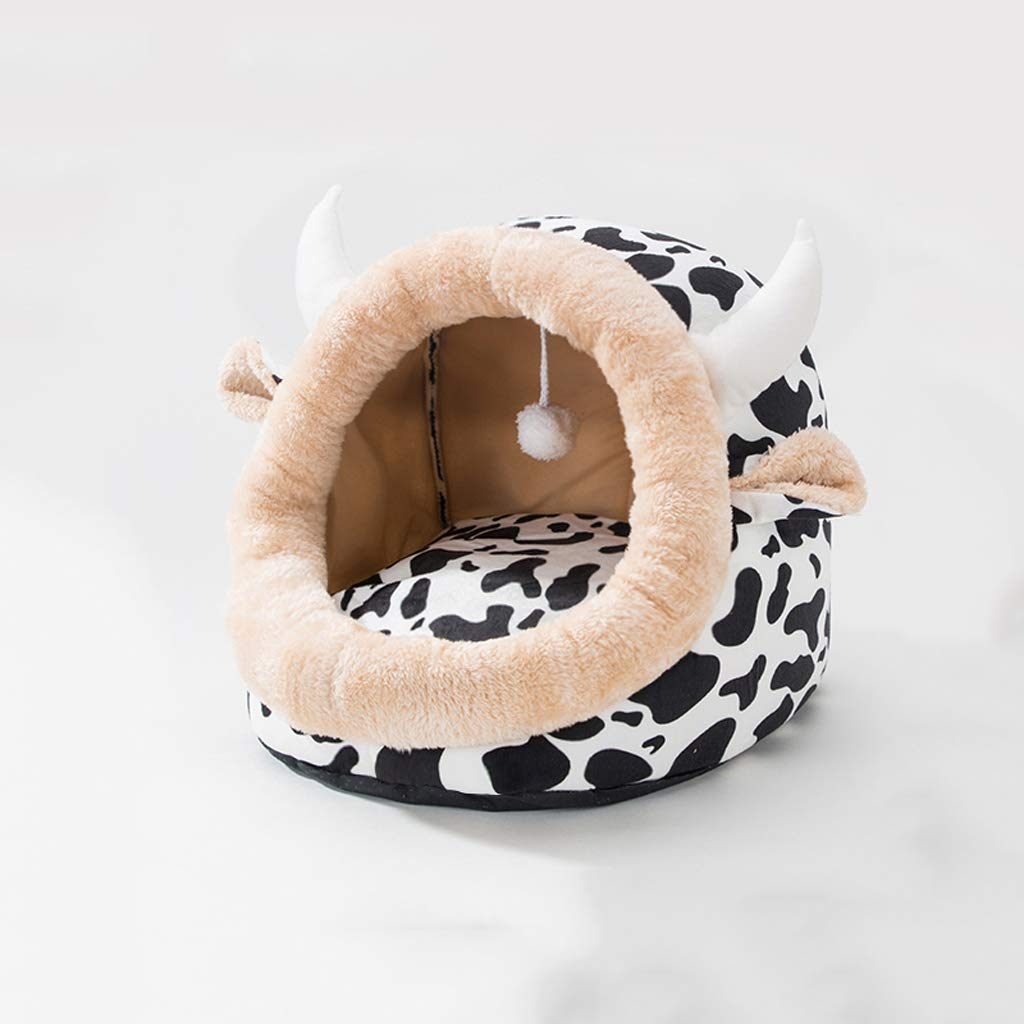 Pet nest cat litter cat sleeping bag four seasons universal cat house cat house small dog kennel pet supplies winter warm45  42  34cm