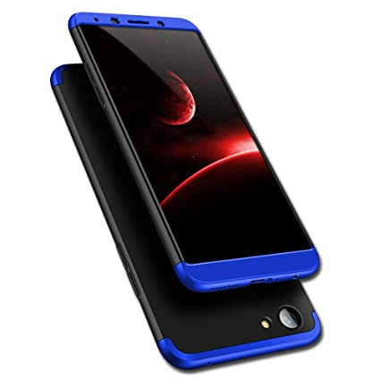 best service 97471 ab9c7 TheGiftKart Oppo F5 / F5 Youth Back Case Cover: Full Body 3-In-1 Slim Fit  Complete 3D 360 Degree Protection Hybrid Hard Bumper (Black & Blue)