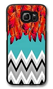 butterfly and chr PC Case Cover for Samsung S6 and Samsung Galaxy S6 Black