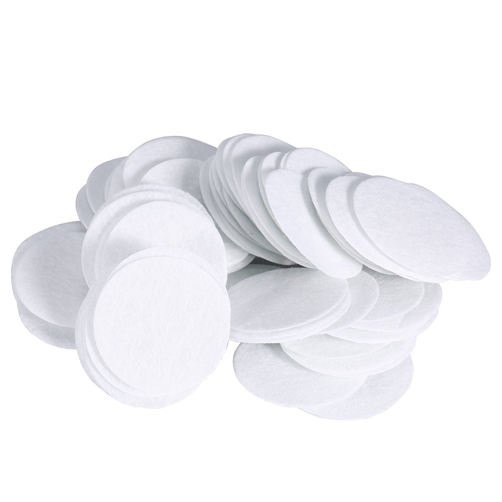 Microdermabrasion Accesories, 100pcs 50mm Cotton Filter Round Filtering Pads for Blackhead Removal Machine, Replacement Facial Vacuum Filters(40mm) Wal front