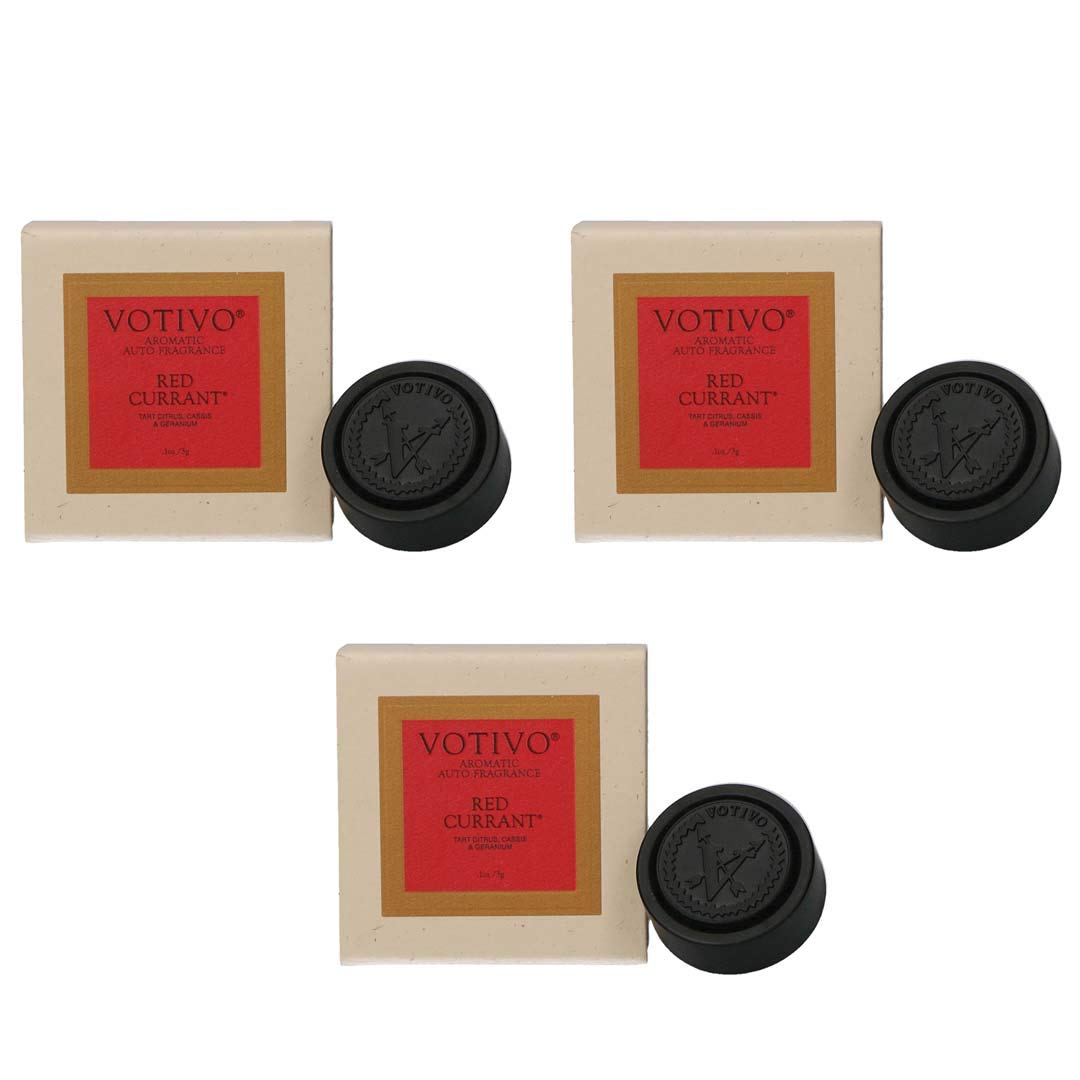 Votivo Aromatic Auto Fragrance - Red Currant, 3-Pack by Votivo