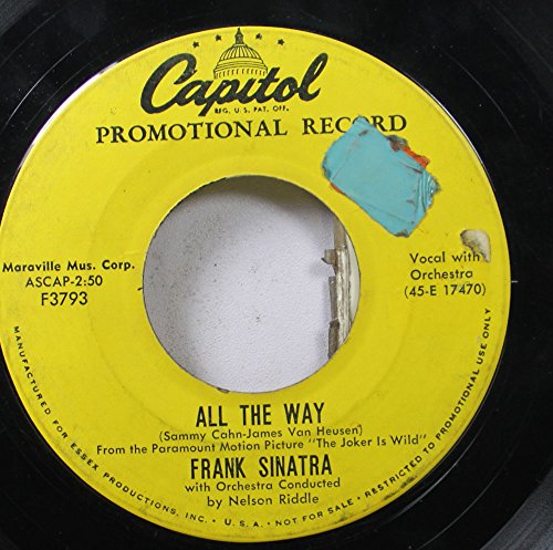 Way Records 45 Rpm (Frank Sinatra 45 RPM All The Way / Chicago)
