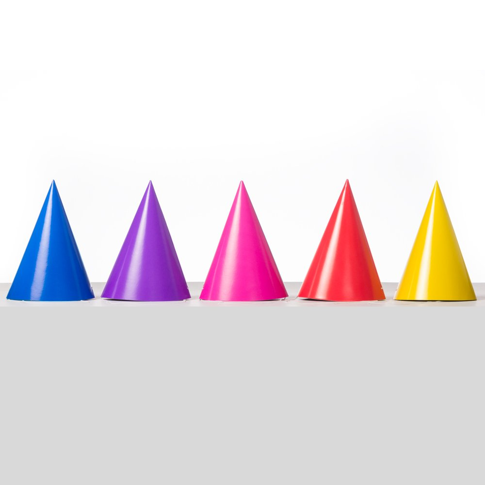 Hot Pink Party Hats, 8ct by Unique Industries