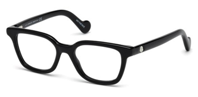 Eyeglasses Moncler ML 5001 001 Shinyブラック B06Y5DHKRT