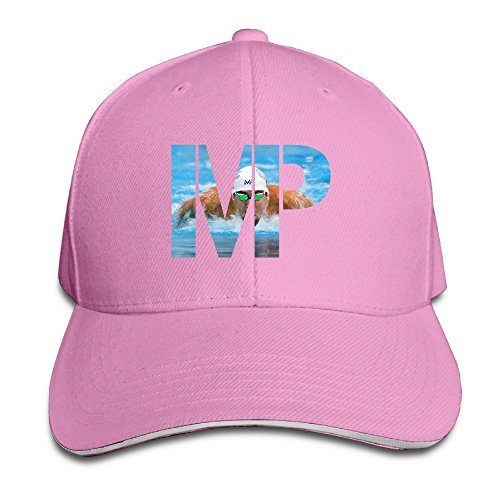 Bro-Custom MP Golden Michael Phelp Sandwich Adjustable Cap Running Hat Pink