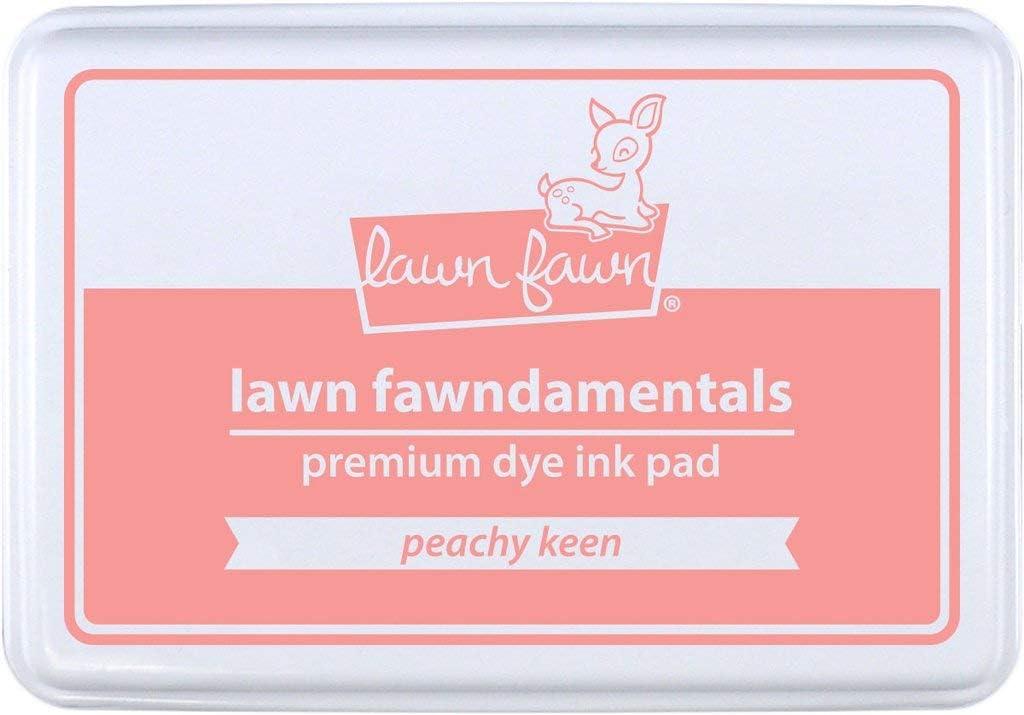 Premium dye Ink pad Lawn fawndamentals 55x85mm Peachy keen Lawn Fawn