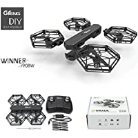 Leewa@ GTENG T908W Assembly Blocks WIFI FPV 0.3MP HD Camera Aititude Mode RC Quadcopter -Black