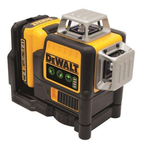 DEWALT DW089LG 12V MAX 3 X 360 Line Laser, Green