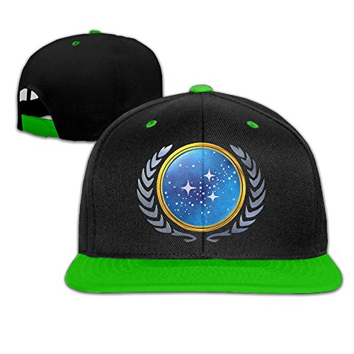 United Federation Of Planets Trucker Hat Adjustable Flat Bill Cap KellyGreen (The Cast Diary Of A Wimpy Kid)