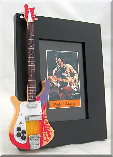 PAUL McCARTNEY miniatura Marco de la guitarra Imagen BEATLES NUEVO ...