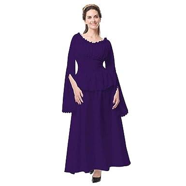 para Mujer Vestidos Maxi Retro Renacimiento Retro Traje Medieval ...