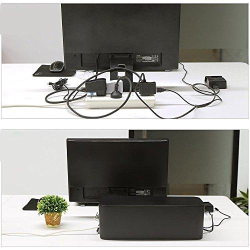 pawaca cable management box wire hider cover storage desk organizer for network computer tv. Black Bedroom Furniture Sets. Home Design Ideas
