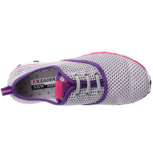 ALEADER Frauen schnell trocknende Aqua Water Shoes Grau
