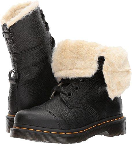 Dr. Martens Women's Aimilita FL Ankle Boot, Black Aunt Sally, 9 Medium UK (11 US)