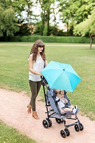 blau Badabulle B060008 Sonnenschirm f/ür Kinderwagen und Buggy UV-Schutz 50 Plus