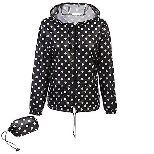 Donne Del Manicotto Delle Coorun Con Lunga Blanc Nuove Cappuccio Di Giacca Cappotto Casuale 320 Pioggia qI7aIY