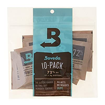 Official Boveda 8 Gram (Medium) 2-way Humidity Control, 10 pack