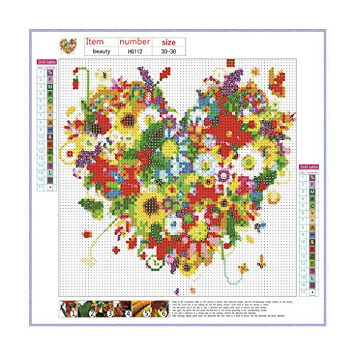 Mitiy Rhinestone Beads Pasted Embroidery Cross Stitch Kits Embellishment Arts Craft for Home Wall Decor ()