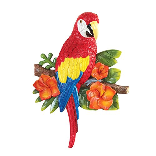 Tropical Parrot Hand Painted Resin Single