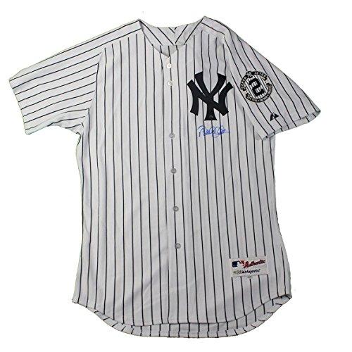 MLB New York Yankees Derek Jeter Signed Authentic White Pinstripe (Signed Yankees White Pinstripe Jersey)