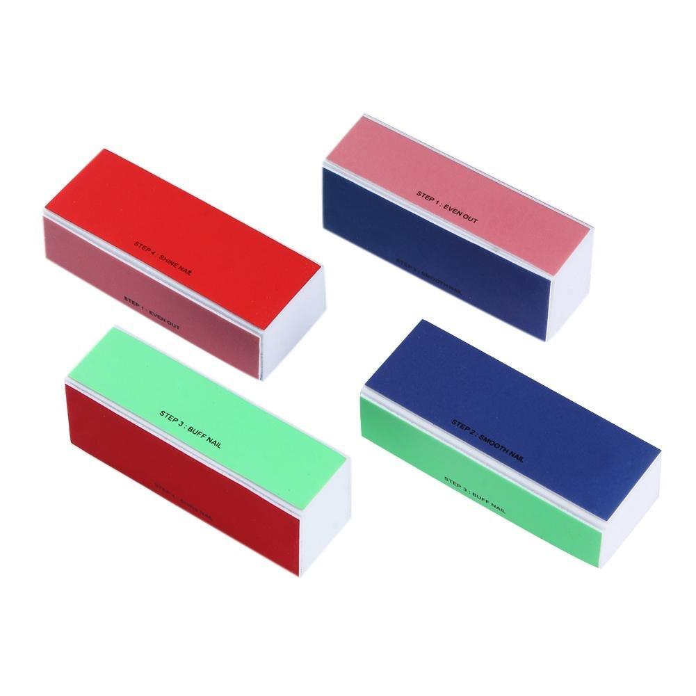 AFfeco - Juego de 4 limas de 4 lados para manicura