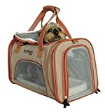 Pupkiss Pets Luxury Airline Approved Pet Carrier. Dog Carrier & Cat Carrier Fits Under Seat. Soft Sided Pet Carrier for Small Dogs & Cats. Oxford w/Quality Grade Mesh. 2 Fleece Beds included.