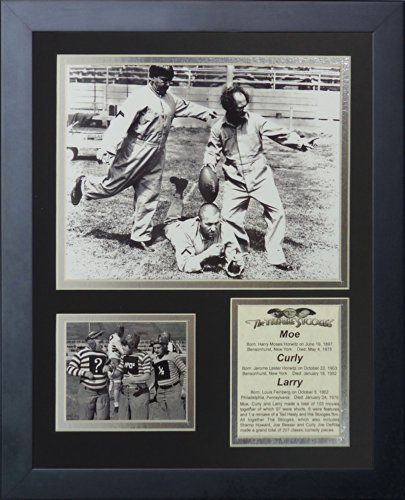 Legends Never Die The Three Stooges Football Framed Photo Collage, 11 by 14-Inch