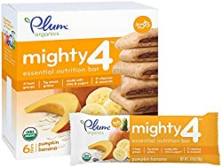 Plum Organics Tots Mighty 4 Bars - Pumpkin Banana - 4.02 oz