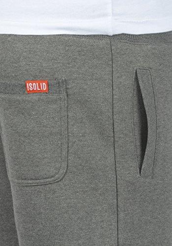 Pantalón Al Suave Bennshorts Bermudas Con Hombre Corto Forro Para 8236 Tacto Polar Sweat solid Grey Chándal Melange 75Pqqn4