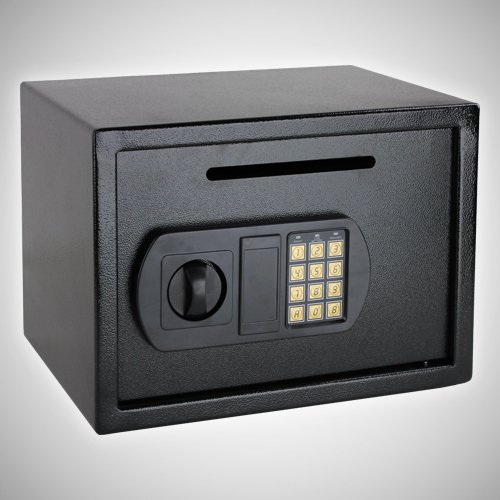 GotHobby Digital Depository Safe Cash Drop Box for Home Office Hotel