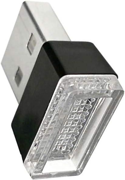 Yangge Yujum LED USB de Voiture Lights atmosph/ère d/écorative Gyrophare Universel PC Branchez Portable Jouez Couleur al/éatoire