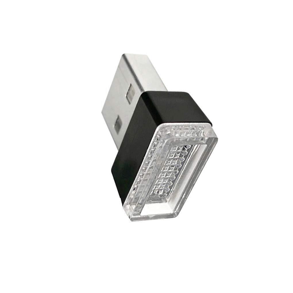 Mengonee Las Luces LED USB Atmó sfera Coche de la luz Decorativa PC Emergencia Universal del Enchufe portá tiles juegan un Color al Azar