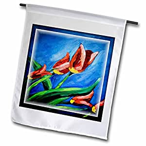 Susan Brown Designs Flower Themes - Oil Painting of Tulips - 18 x 27 inch Garden Flag (fl_53131_2)