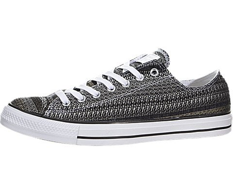 Converse Unisex Chuck Taylor All Star Dobby Weave Ox White/Green/Black Men's 11 Medium